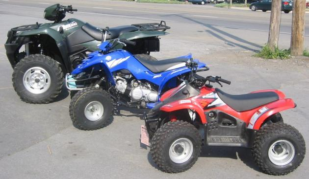 Different Sized ATVs
