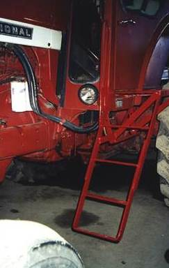 Aftermarket Steps on Tractor